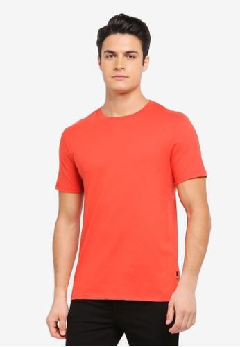 Burton Menswear London orange Blood Orange Crew Neck T-Shirt BU964AA0T1H7MY_1