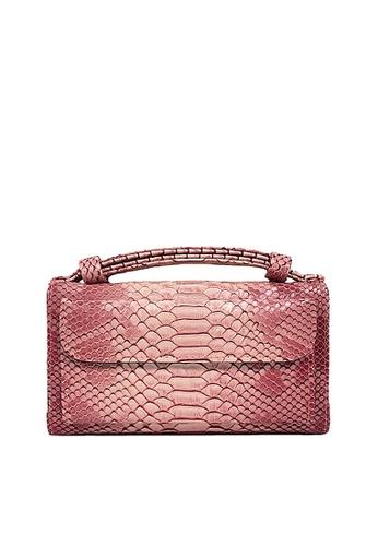 Twenty Eight Shoes pink VANSA Serpentine Pattern Embossed Cow Leather Bi-Fold Wallet VBW-Ps6021 3D27AAC5CEEBAAGS_1