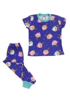 Monkey Print Pajama Set