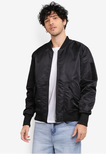 Factorie 黑色 Solo Bomber Jacket FA880AA0SKI8MY_1