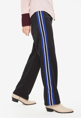 TOPSHOP black Blue Side Stripe Track Pants 2DC4FAA81FAE79GS_1