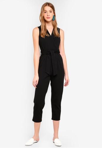 Dorothy Perkins black Petite Tux Front Jumpsuit C44BDAAC525F6CGS_1