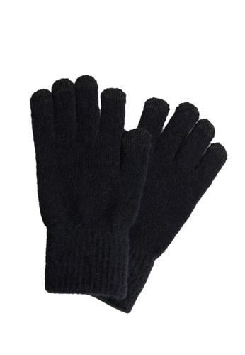 MANGO Man blue Touchscreen Knitted Gloves 43484AC94CA8D2GS_1