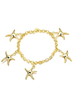 B014 Romantic Link Chain Charm Bracelet with Starfish Party Jewelry