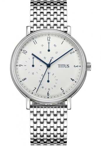 Solvil et Titus white and silver Men's Analogue Quartz Watch in White Dial and Stainless Steel Bracelet SO598AC0GLOJSG_1