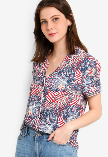 18ce3189c26 Buy ZALORA Collared Shirt With Piping Detail Online on ZALORA Singapore