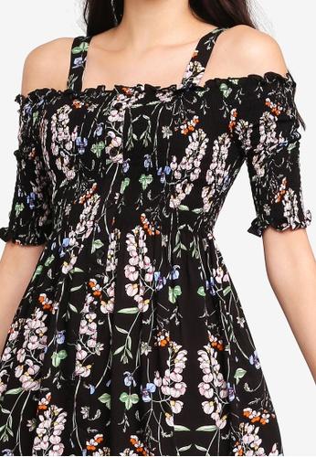 0c9da02b4fa Buy Kitschen Floral Smokey Cut Out Shoulder Short Dress Online   ZALORA  Malaysia