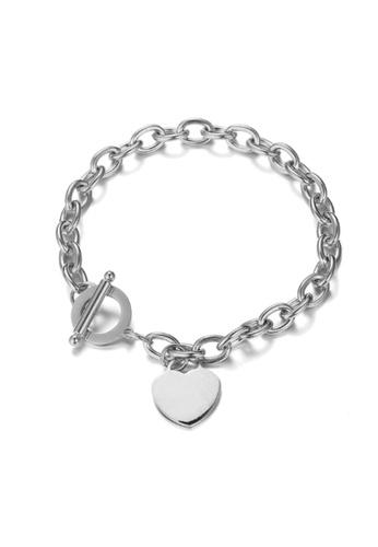 CELOVIS silver CELOVIS - Adora Heart Tag Pendant Bracelet in Silver E94EAAC5B387E8GS_1