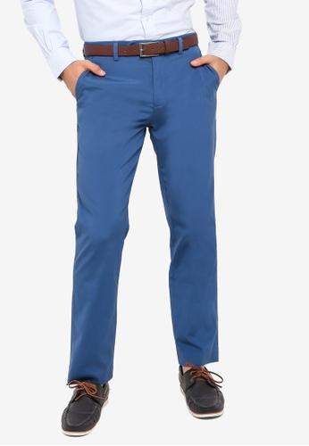 Brooks Brothers blue Milano Fit Supima Poplin Pants BE7CDAA6740DFEGS_1