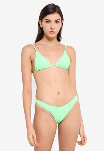 Billabong green Surf Check Long Tri Bikini Top 45BB5US257C9FEGS_1