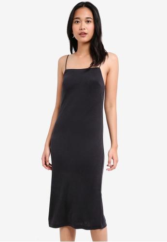 TOPSHOP black Square Neck Slip Dress 9F793AA85F6356GS_1