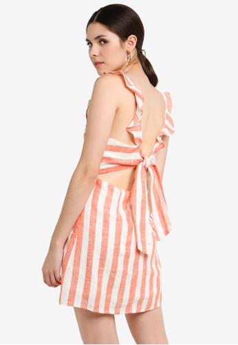 Glamorous orange and multi Striped Dress B5F37AA4EFA29EGS_1