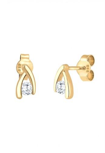 Elli Germany gold Perhiasan Wanita Emas Asli 585 (14K) Anting Stud Zirconia Emas EL948AC37RASID_1