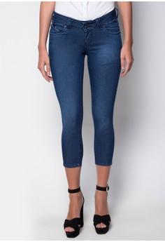 Fashion Denim Stretch Ankle Cut Low Waist Pants