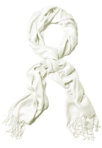 SHINE white White Premium Pashmina Shawl EEAFFAAE231866GS_1