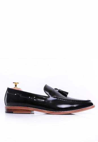 Zeve Shoes black Zeve Shoes Tassel Loafer - Black Polished Leather 4C9B6SH43C42DDGS_1