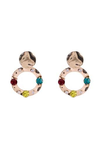 Red's Revenge multi Colour Crush Gems Dangle Earrings B744DACBD8DDB1GS_1