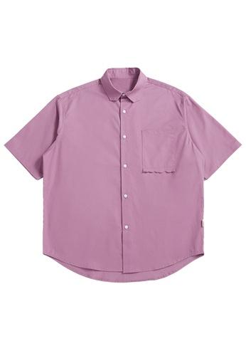 Twenty Eight Shoes Loose Cropped Pocket Short Shirt 2263S21 51A1CAAE7EF457GS_1