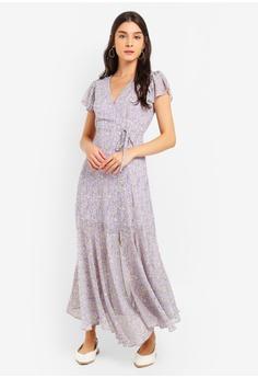 51cb3ff4986 ZALORA purple Ruched Skirt Maxi Dress AAC55AA2287B36GS 1