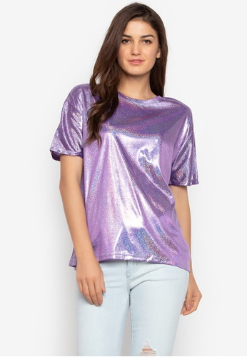 5ca77eee30ad9 Shop Chase Fashion Holographic Festival T-Shirt Online on ZALORA Philippines