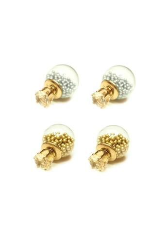 ACEXSPADE silver Sora Glass Beads Studs Set – Silver/Gold CAAAAACB80FB9FGS_1