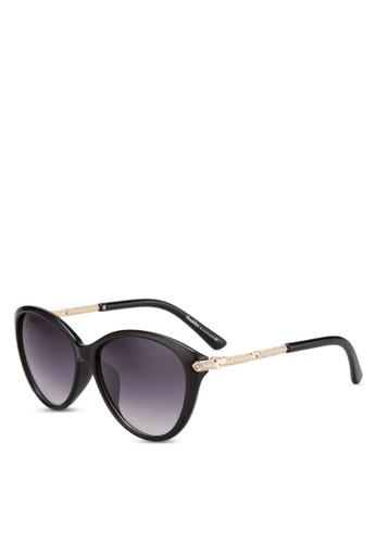 水鑽飾貓眼太陽眼鏡