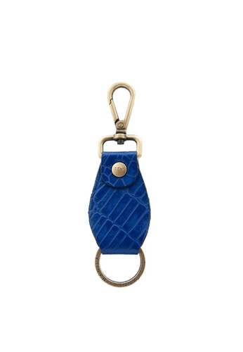 The Tannery Manila blue Josh Leather Keyholder FC68AAC6668678GS_1
