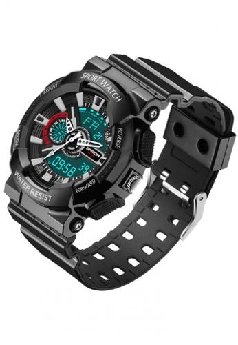 SANDA black SANDA 799 G Style Military Waterproof Outdoor Sports Men's Shockproof Digital Watch (Full Black) SA708AC0RZG4MY_1