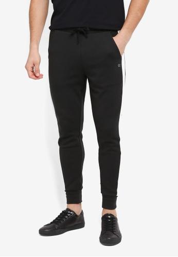 Calvin Klein black Side Panel Stripe Pants - Calvin Klein Performance BFDD6AABD9382DGS_1