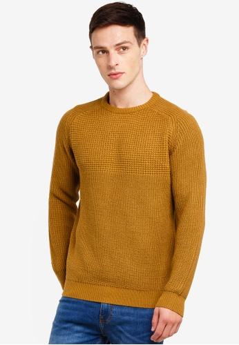 Burton Menswear London 米褐色 針織上衣 E9C84AA744BE3AGS_1