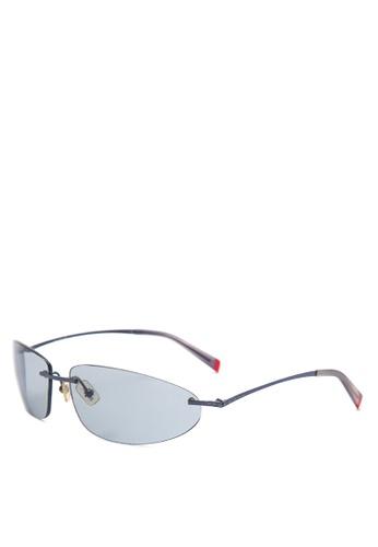 Shop Levi\'s Rimless Frame Rectangle Sunglasses [ LV1001462 ] Online ...