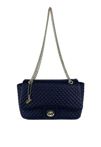 Mel&Co black Quilted Chain Shoulder Bag A51D0AC2293F3DGS_1