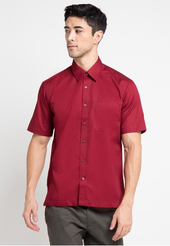 GQ MEN'S WEAR red Casual Short Sleeve Shirt GQ410AA0V5G0ID_1