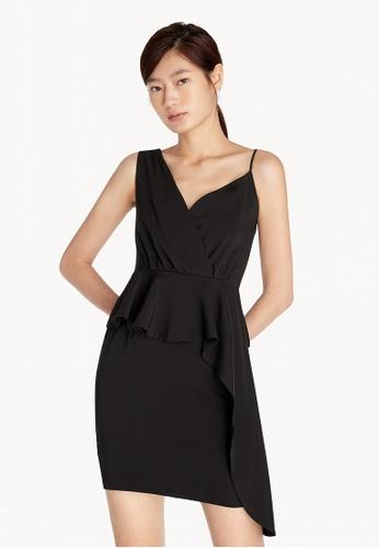 Pomelo black Asymmetric Shoulder Dress - Black 5A072AA226F57AGS_1