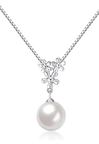 YOUNIQ silver YOUNIQ White Pearl Drop 925 Sterling Silver Necklace Pendant YO999AC68DBJMY_1