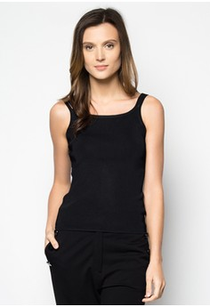 Double Strap Stretchy Rib Top