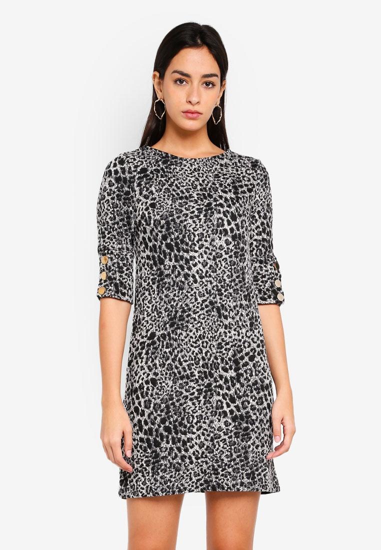 Grey Dorothy Shift Animal Perkins Jacquard Dress fRaRXxP