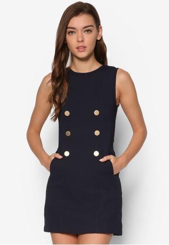 Rico 雙排鈕無袖連身裙, 服飾esprit 尖沙咀, 洋裝