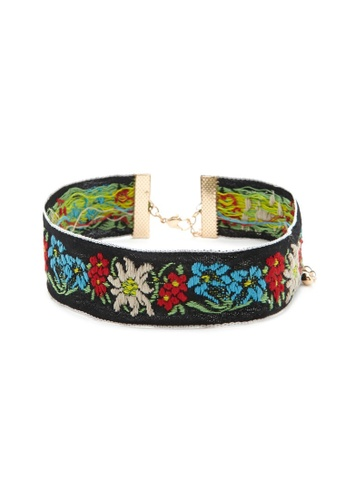 LUCCACAL Embroidered Floral Choker LU294AC36CNBMY_1