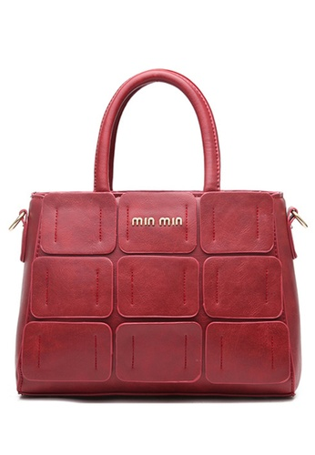 Vince red European Designed Luxury Vegan Leather Tote ( Red ) VI456AC99VFKMY_1