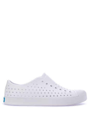Native white Jefferson Sneakers 95883SHDFCDA14GS_1