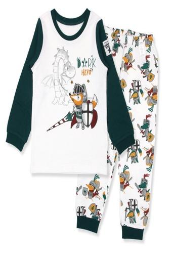 Organic mom white and blue Boys Autumn-Winter Blue and White Homewear Pajamas 58EA8KA3895416GS_1