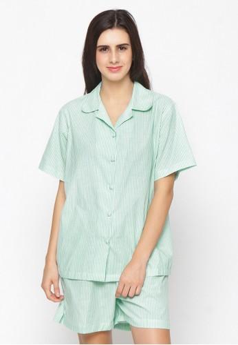 Impression green Pajamas Set 9105 88DC1AA3C7A55DGS_1
