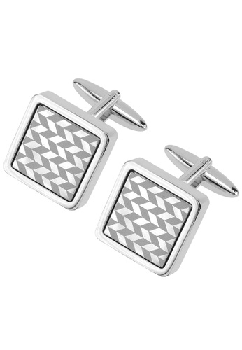 CUFF IT silver Laser Engraved Arrow Cufflinks CU047AC02ZKVHK_1
