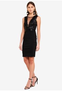 ef8c0e0f58 25% OFF Goddiva Plunge Neckline Sequin Embellished Midi Dress RM 269.00 NOW  RM 201.90 Sizes 10 12 14 16