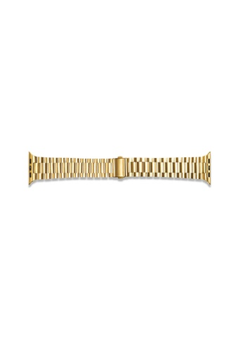 Kings Collection gold Gold Stainless Steel Apple Watch Band 38MM/40MM (KCWATCH1018) 8A1BEAC113354DGS_1