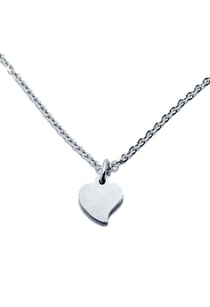 Stainless Steel Tiny Heart Necklace 1 (Curvy)