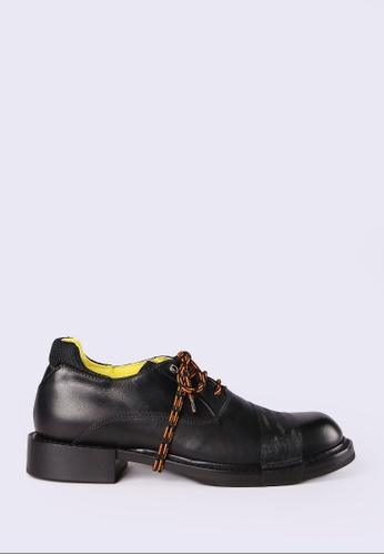 Diesel black D-Jack Oxf Leather Mocassins 14AFBSH08AD83BGS_1