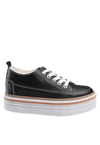 Twenty Eight Shoes 黑色 頭層小牛皮鬆糕鞋 VC8882 F3499SHAE3A9B6GS_1