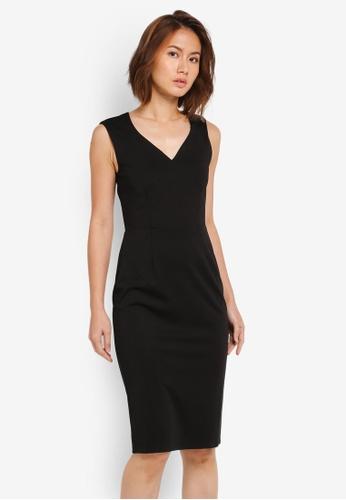 ZALORA BASICS black Sweatheart Dress 91442AA1D75E18GS_1